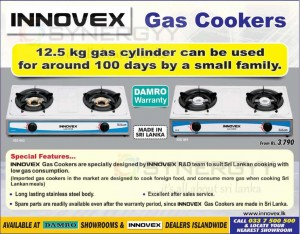 Low Gas Consumption Innovex Gas Cooker from Damro