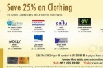 Save 25% on Clothing in December 2014 for Seylan Bank Credit Cards