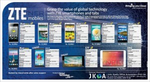 ZTE Mobiles and Tablet Prices in Sri Lanka – December 2014