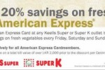 20% Saving for American Express Credit Card till 31st January 2015