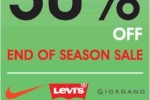 50% off at GALLERIA – End of Season Sale