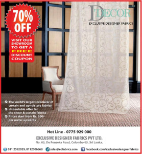 70% off from Décor Exclusive Designer Fabrics `
