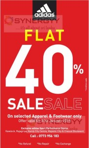 Adidas Flat 40% Off – Until 31st January 2015