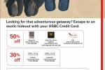 Book your Hotels for next Holiday Season and get discounts upto 50% for HSBC Credit Cards