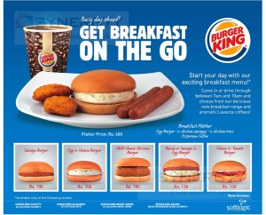 Burger Kings Breakfast Menu – Update List