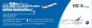 Discounts upto 30% off to SriLankan online destinations