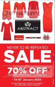 Discounts upto 70% from Abstract till 31st January 2015