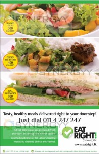 Eat Right offers your healthy and Calories control food in Sri Lanka