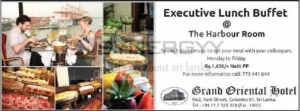 Grand Oriental Hotel - Executive Lunch Buffet for Rs. 1,430.00 nett. Per person