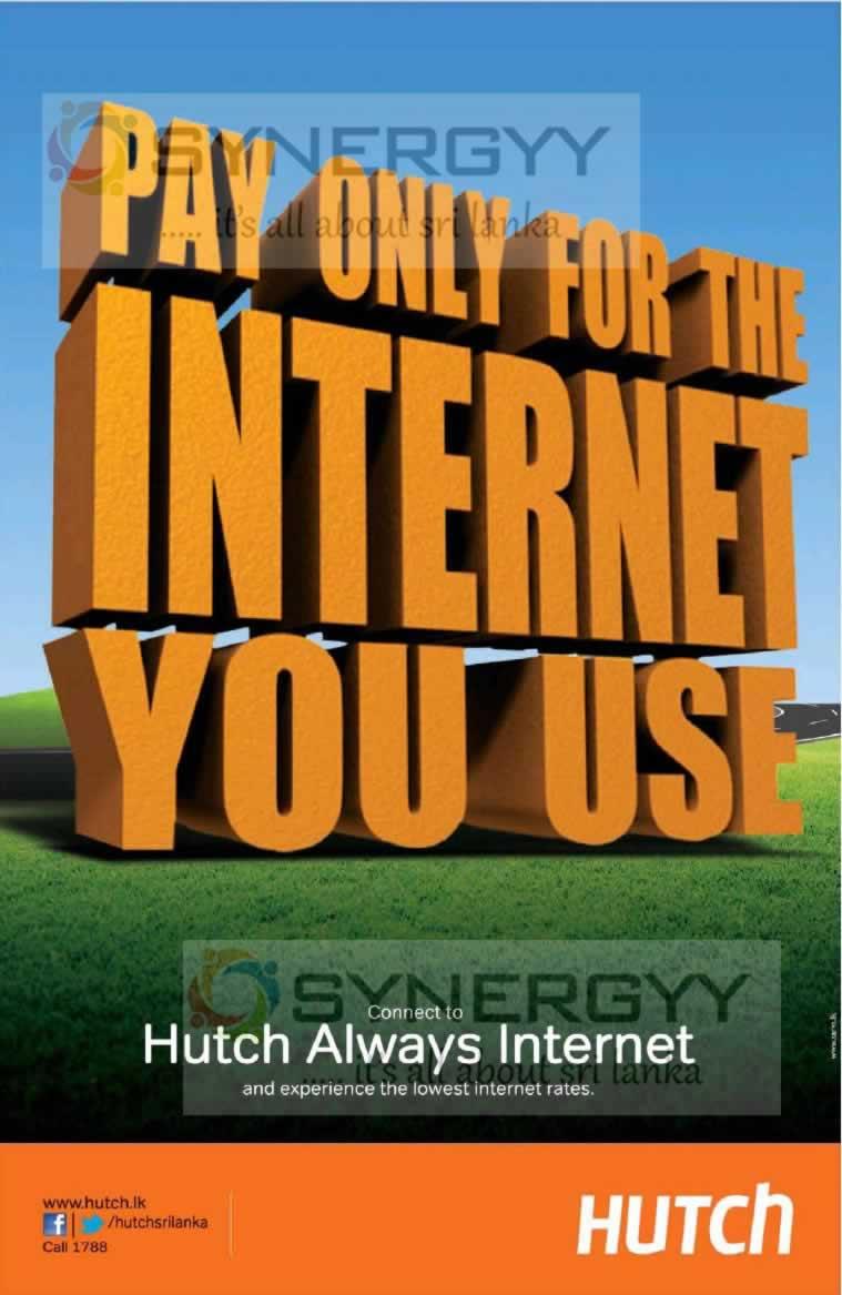 Hutch Internet Lowest Internet Rates In Sri Lanka 171 Synergyy