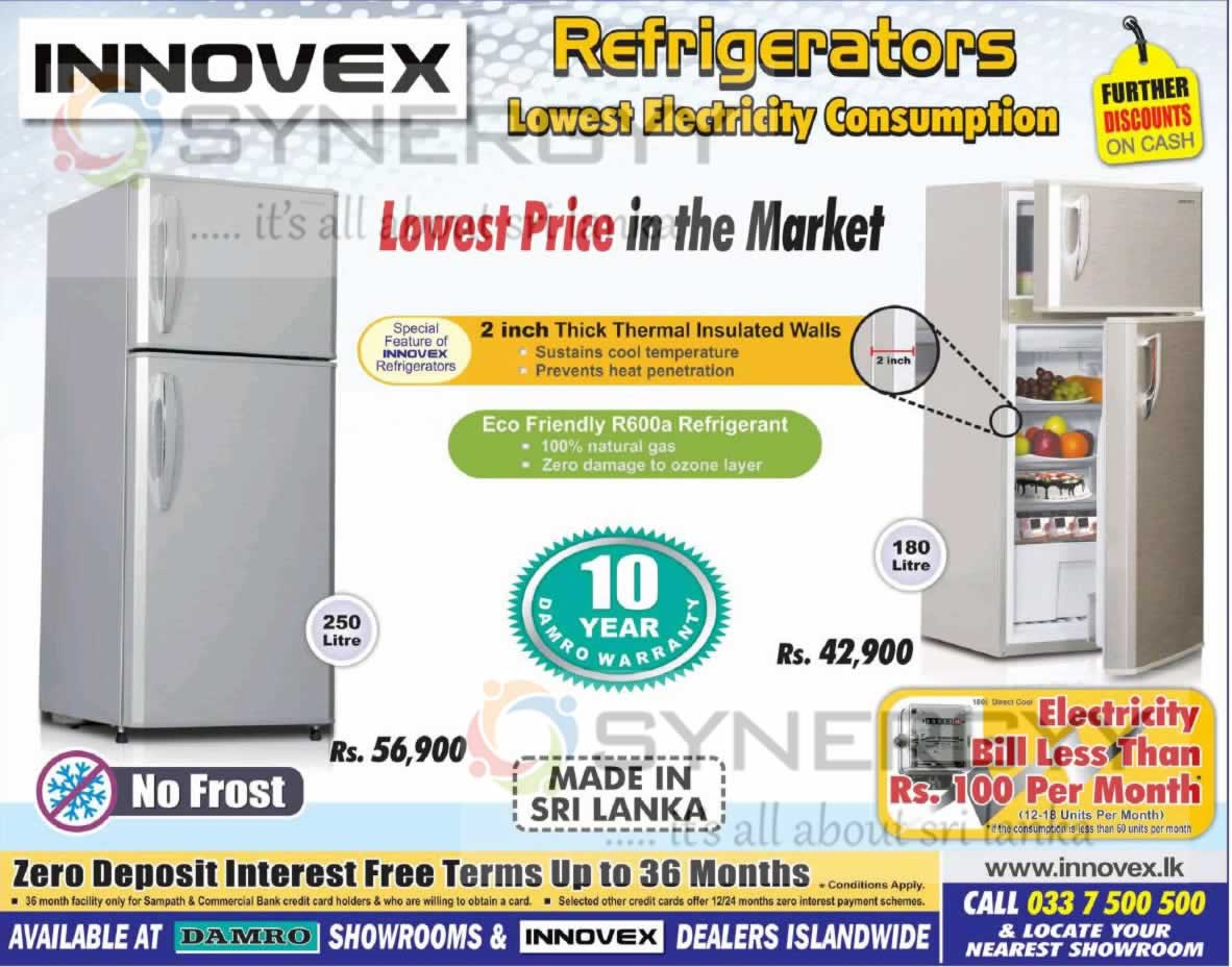Innovex Refrigerators For Rs 42 900 00 Upwards 171 Synergyy