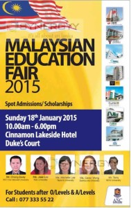 Malaysian Education Fair 2015 – 18th January 2015