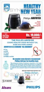 Philips Air fryer Now for Rs. 19,000.00 at Abans