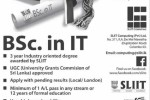 SLIIT B.Sc in IT Degree Programme – 2015 Intakes
