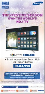 "Samsung 32"" 3D Smart TV for Rs. 84,990.00 from Samsung Sri Lanka"