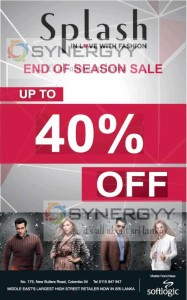 Splash End of Season Sale – Discounts upto 40%