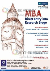 University of Derby MBA Programme in Sri Lanka
