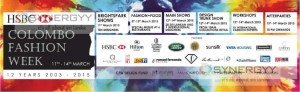 HSBC Colombo Fashion Week - 11th to 14th March 2015