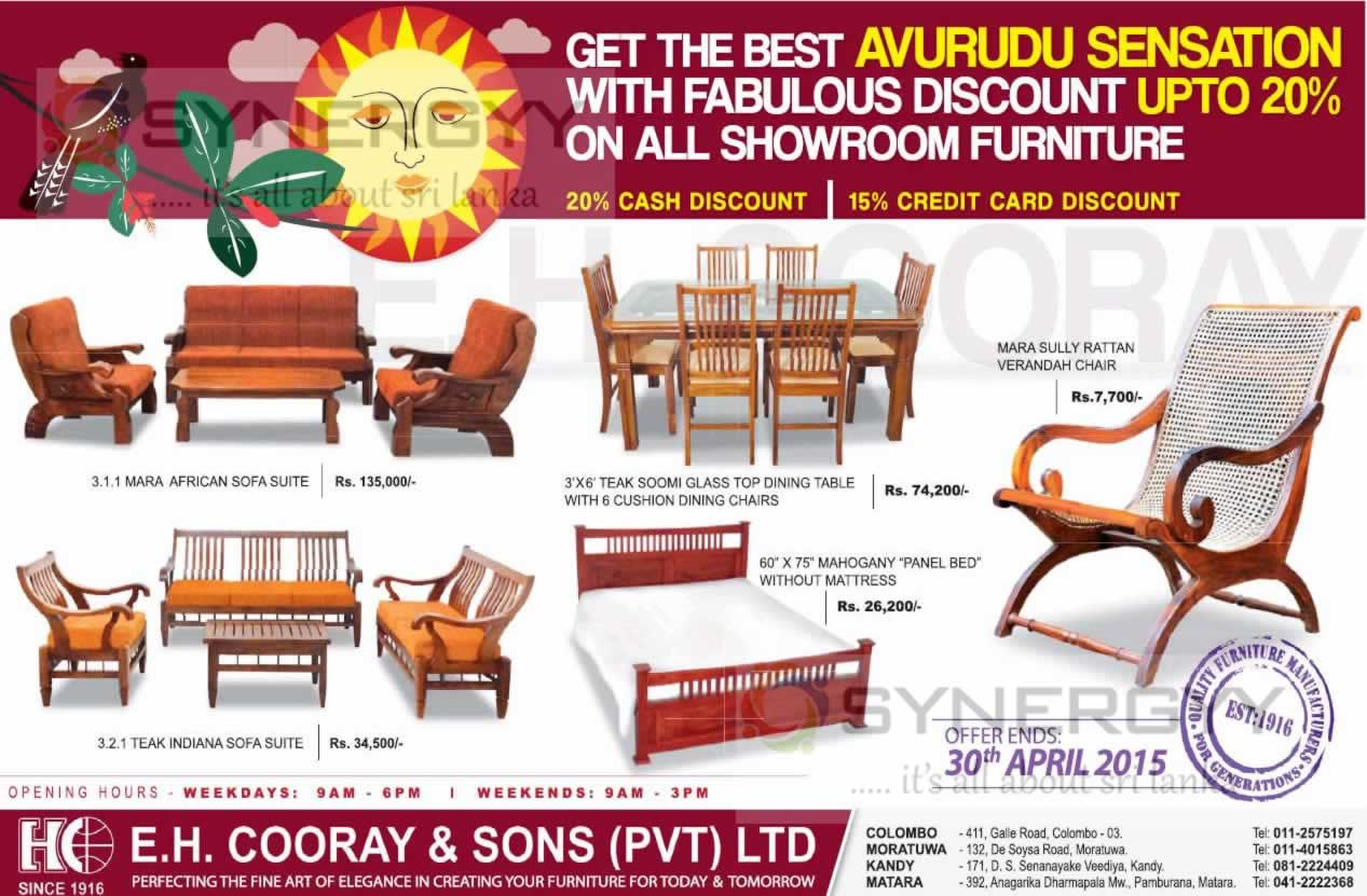 ... Discount On E.H.Cooray U0026 Sons Furniture Till 30th April 2015