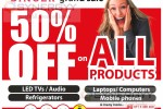 50% off from Singer Mega Sale – from 14th to 16th March 2015