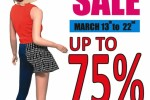 75% off at Romafour – From 13th to 22nd March 2015