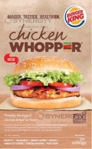 Burger King Chicken Whopper for Rs. 420- Now