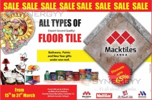 Discounts upto 65% on all types of floor tiles from Macktiles