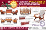 E.H Cooray & Sons Furniture New Year Sale 2015