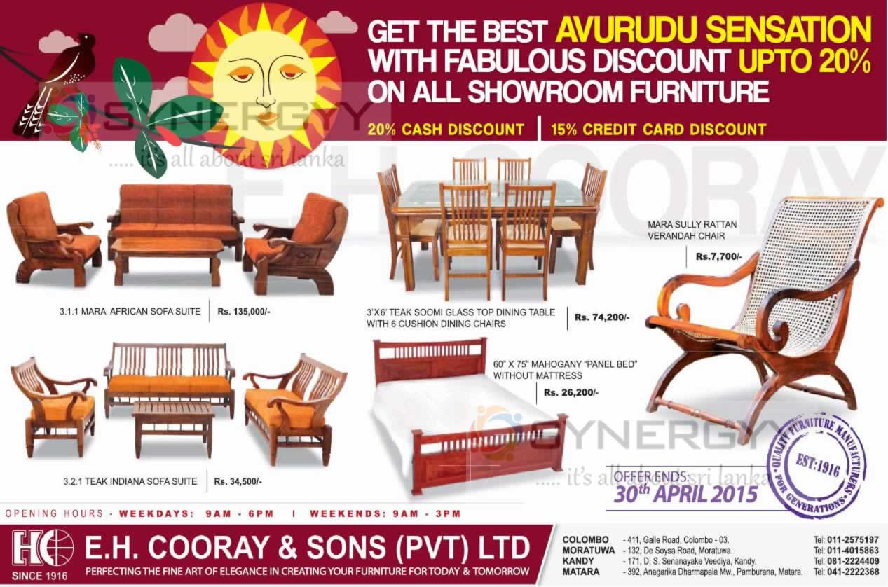 Cooray Sons Furniture New Year 2017