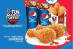 Grab a Pepsi KFC Combo Meal And Cheer Sri Lanka for Rs. 800/- Only