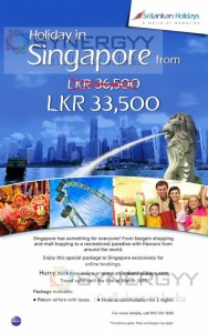 Holiday to Singapore for Rs. 33,500- upwards
