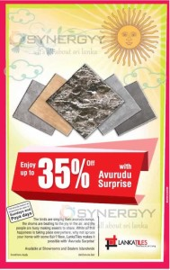 Lanka Tile 35% off for New Year Surprise