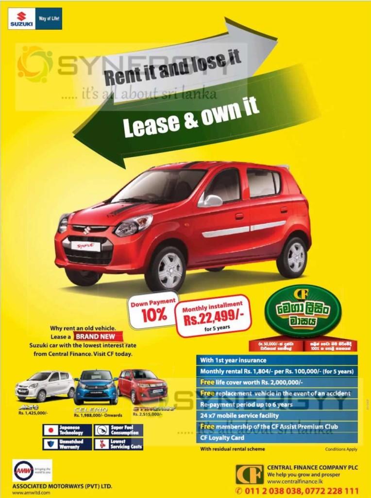 Maruti Suzuki Alto Leasing option Central Finance Company