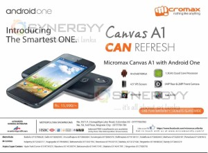 Micromax Canvas A1 for Rs. 15,990.00 from Metropolitan