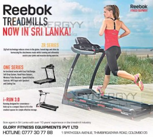 Reebok Treadmills Now In Sri Lanka from Glory Fitness Equipments Pvt Ltd