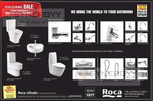 Roca Stock Clearance Sale – on 15th/22nd/29th March 2015