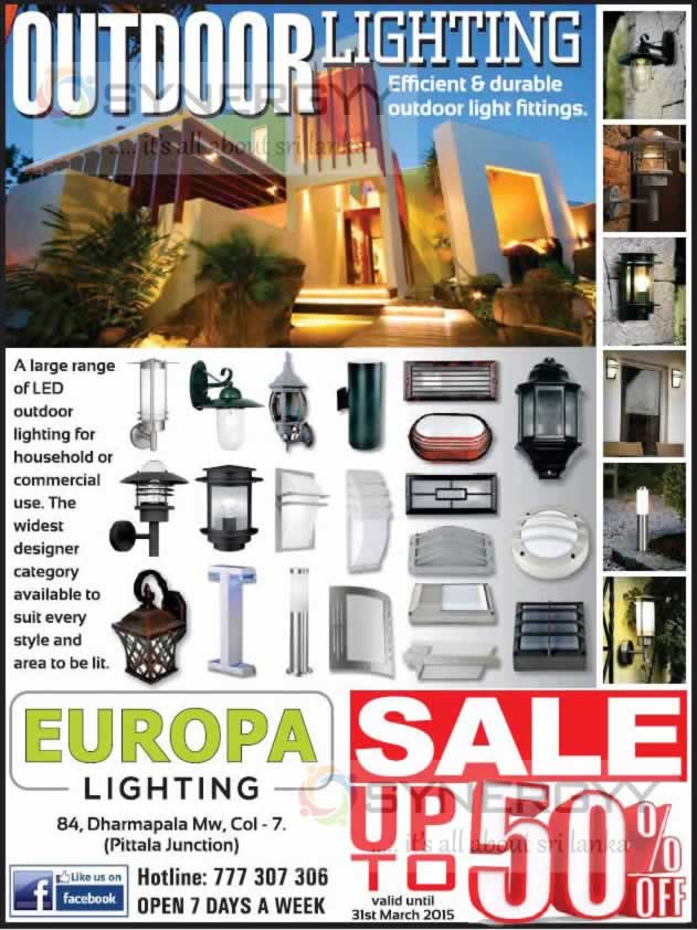 Upto On Outdoor Lighting From Europa Synergyy