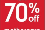 Sale up to 70% off at mothercare