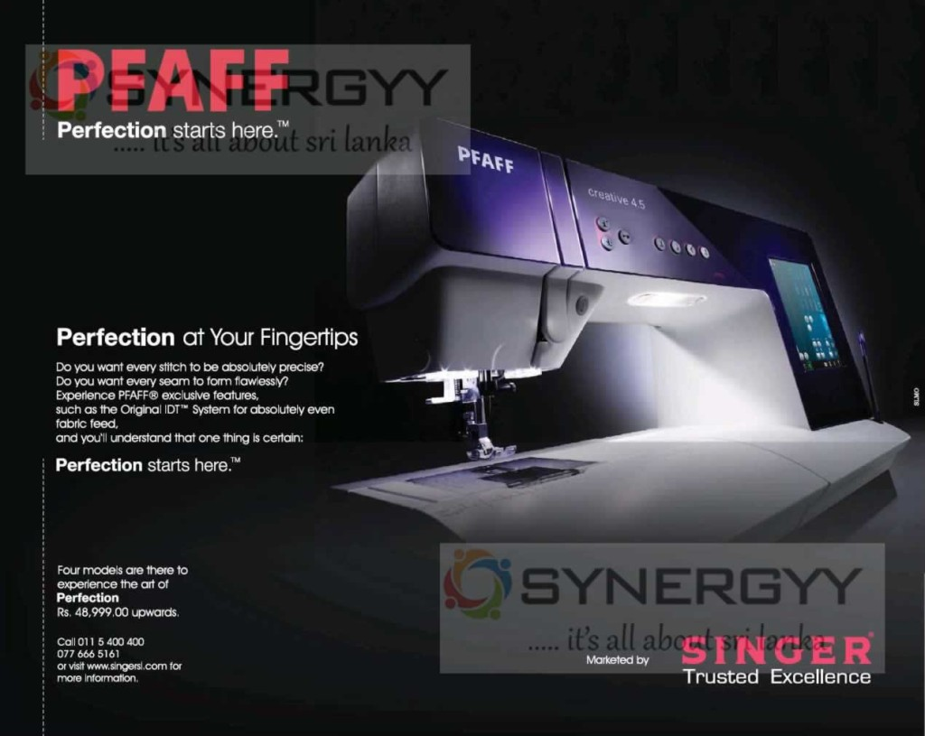 Singer Pfaff Sewing Machines Now available in Sri Lanka for Rs. 48,999- Upwards