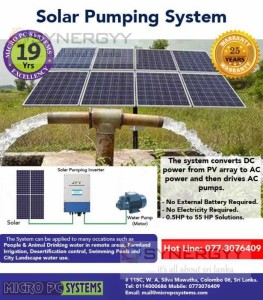 Solar Pumping Motor Systems for Farmers – from Micro PC System