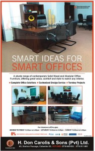 Solid Wooden Office furniture in Sri Lanka from H.Don Carolis & Sons