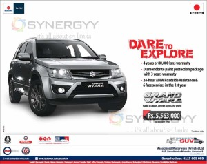 Suzuki Grand Vitara for Rs. 5,563,000.00