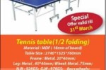 Table Tennis Table for sale – Rs. 38,500/-