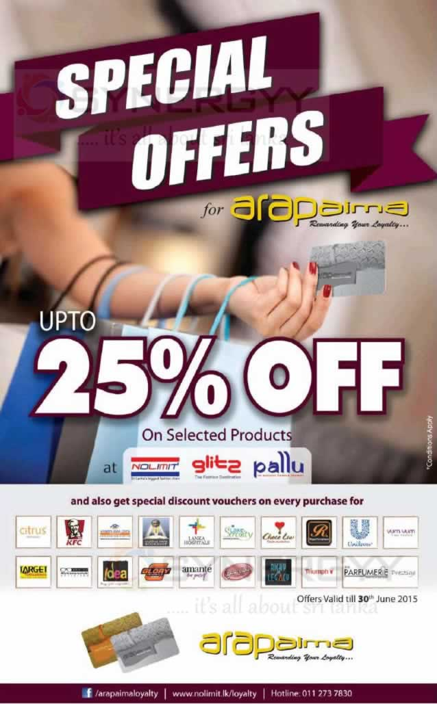 25 discount for arapaima loyalty till 30th june 2015 for Mercedes benz loyalty discount