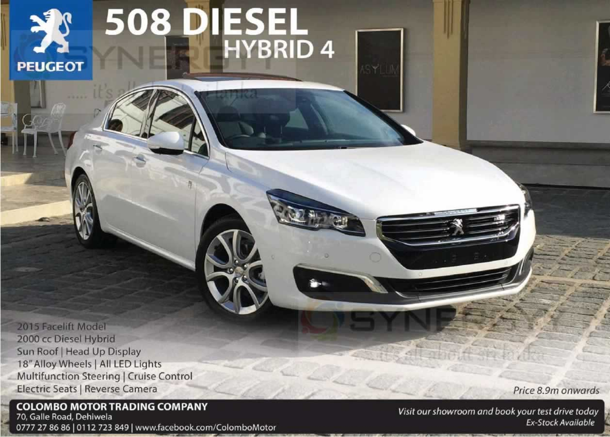 peugeot 508 diesel hybrid 4 now available in sri lanka for rs 8 9 million synergyy. Black Bedroom Furniture Sets. Home Design Ideas