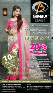 20% off at Beverly Street – from 13th to 19th July 2015