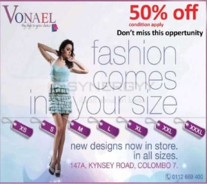 50% off at Vonael