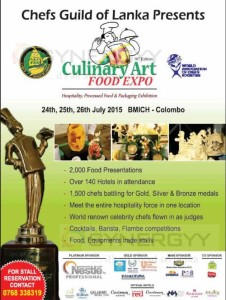 Culinary Art Food Expo 2015 @ BMICH from 24th to 26th July 2015