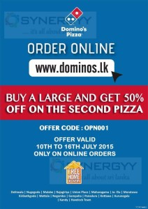 Domino's Pizza Online order promo code for Sri Lanka