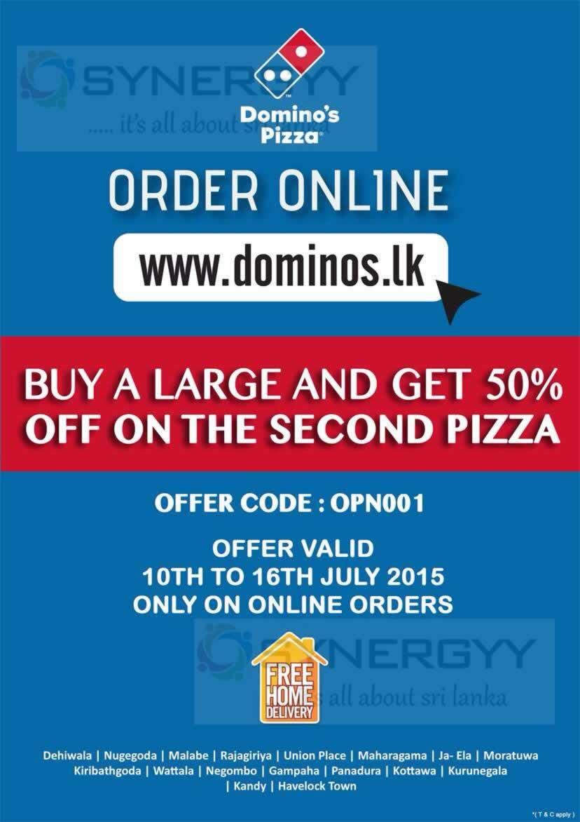 Dominos pizza online order - Domino S Pizza Online Order Promo Code For Sri Lanka